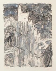 Castle - Original Lithograph by Denise Bonvallet-Philippon - 20th Century