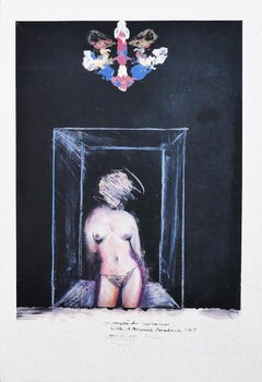 Nude - Original Drawing by Sergio Barletta - 1974