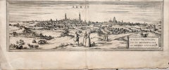 Map of Arras - Original Etching by George Braun - Late 16th Century