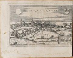 Map of Broversavia - Original Etching by George Braun - Late 16th Century