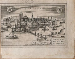 Map of Goricum - Original Etching by George Braun - Late 16th Century