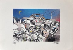 Scarp Cars - Original Lithograph by Giuseppe Megna - 1976 ca.