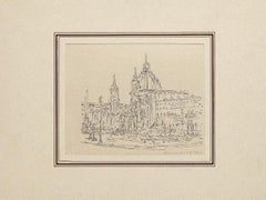Navona Square - Original Artwork by Ildebrando Urbani - Mid 20th Century