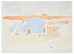 Landscape - Original Watercolor Painting on Paper - 20th Century