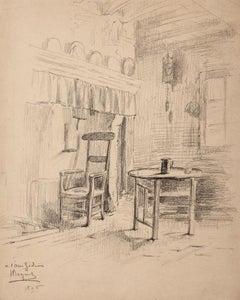 Household - Original Pen on Paper - 1896