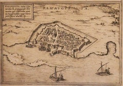 Famavgvsta - Original Etching by George Braun - Late 16th Century