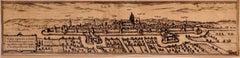 Ulm - Original Etching by George Braun - Late 16th Century