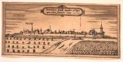 Sontina - Original Etching by George Braun - Late 16th Century