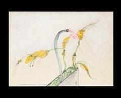 Carnivorous Plants - Original Pen and Watercolor by Sergio Barletta - 1975