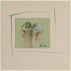 Leaf - Original Watercolor on Paper by Anne Walker - Late 20th Century