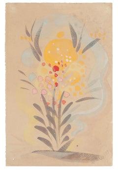 Flowers - Original Watercolor on Paper by Jean Delpech - 1951