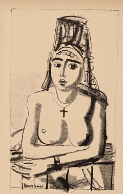 Oriental Nude - Original Lithograph on Paper by Maurice Barraud - 1929