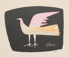 Bird - Original Lithograph by Emanuel Poirier - 1950s