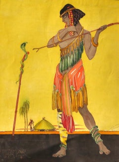 Thamar - Original Watercolor by Unknown Master - 1920s