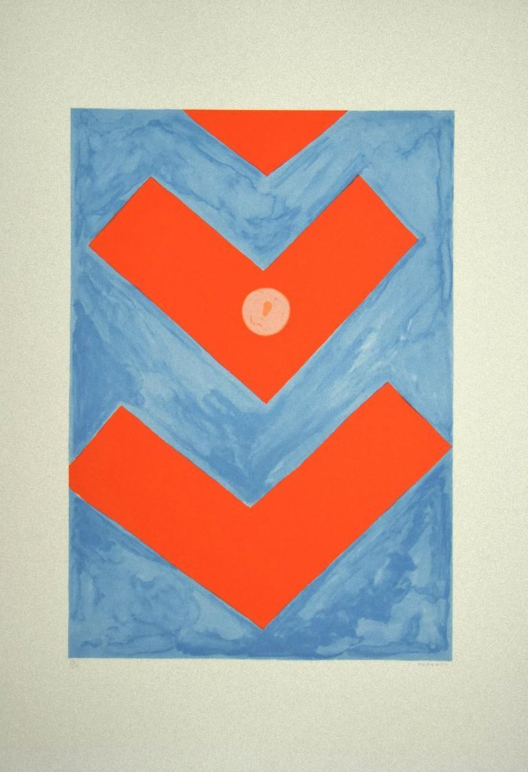 Untitled - Original Screen Print by G. Turcato - 1980