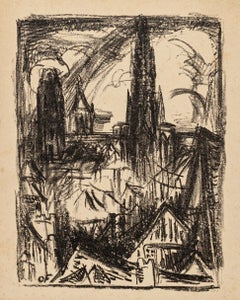 City of Rouen - Original Lithograph on Paper by Othon Friesz - 1923