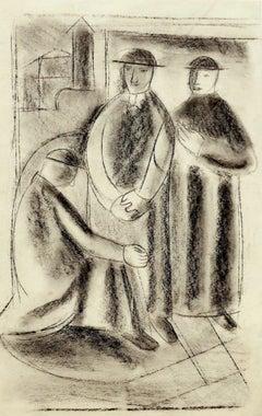 Pretini - Original Drawing - 20th Century