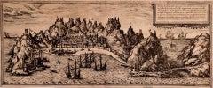 Aden - Original Etching by Braun-Hogenberg - Late 16th Century