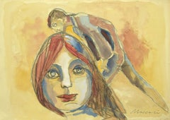 The Kiss - Mixed Media by Mino Maccari - 1960s