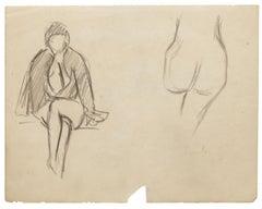 Nude Studies - Original Drawing - 20th Century