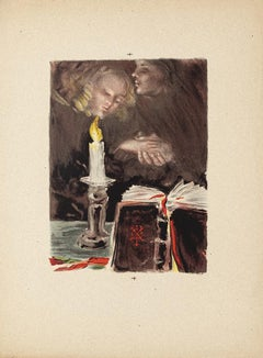 Sympathy - Watercolor on Paper by Pierre Laurent Brenot - Mid-20th Century