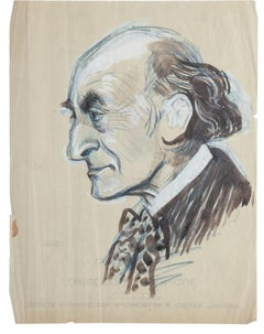 Portrait - Original Mixed Media Drawing - 20th Century