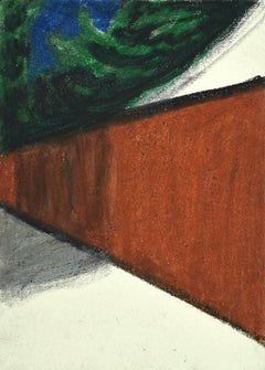 Composition - Original Mixed Media on Cardboard by Sun Jingyuan - 1970