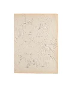 Portrait - Original Pen on Paper - 1950