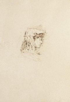 Portrait - Original Drawing on Paper - 1880