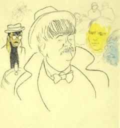 Portrait - Original Pencil and Pastels on Paper - 1940