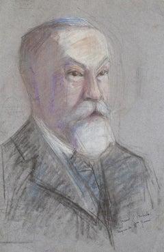 Portrait - Original Pastel on Paper by M. Gérard - Early 20th Century
