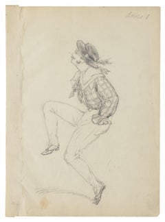 Dancer - Original Pencil Drawing - 20th Century