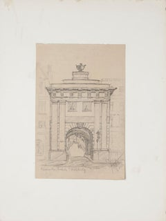Roman Gate - Original Pencil on Paper by Werner Epstein - 1923