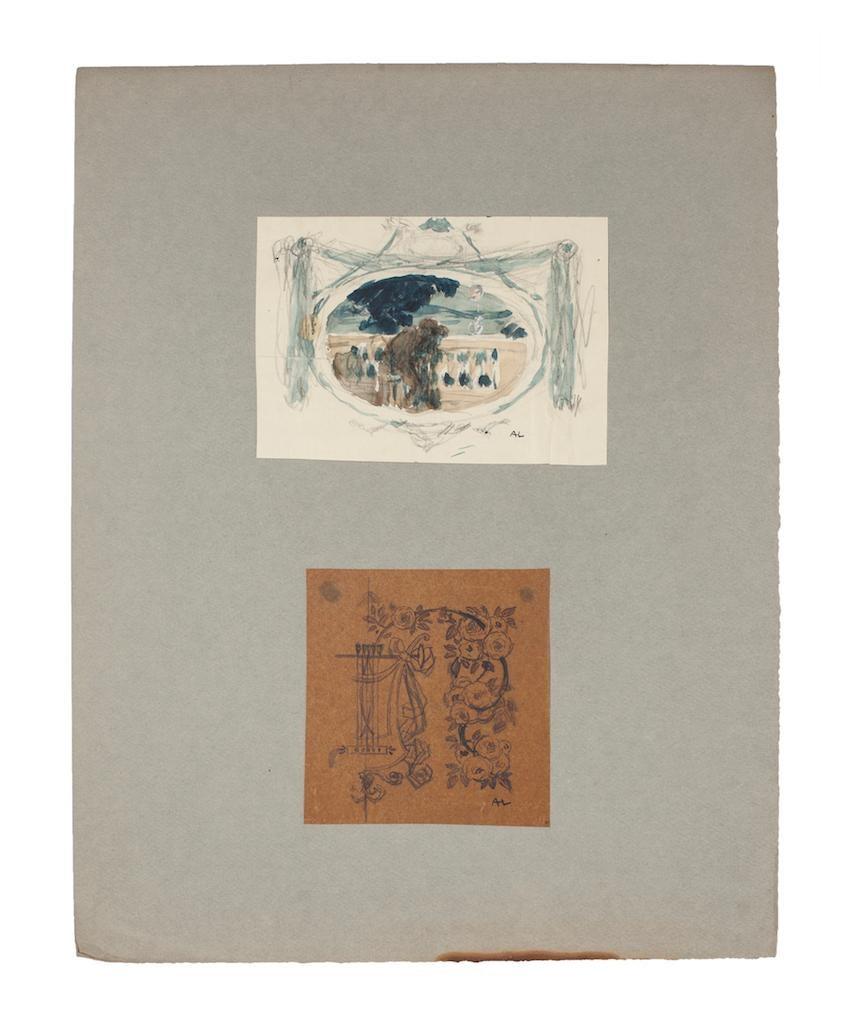 Landscape and Still Life - Original Pencil, Watercolor, and Pen on Paper -1920ca
