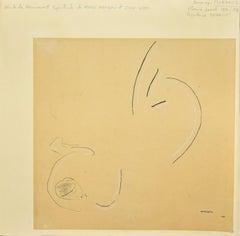 Étoile de Moment - Original Black China Ink and Pencil Drawing -  1952