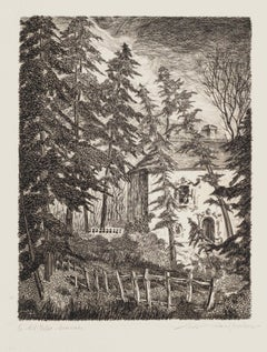 Landscape - Original Etching -  1950s