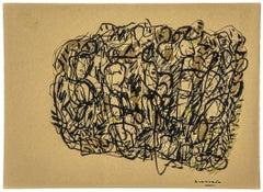 Non si esce - Original Ink on Paper by Maurizio Gracceva - 2018