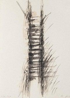 Composition - Original Lithograph on Cardboar by Mario De Luca - 1980