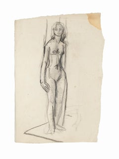 Nude Woman - Original Pencil on Paper by French Artist- 20th Century