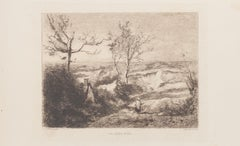 La Sablière - Etching after C. Corot by G.M. Greux - 19th Century