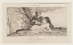 Soir D'Automne - Original Etching by A. Salmon - 19th Century
