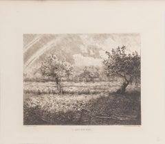 L'Arc en Ciel - Etching R.P. Grouiller after after J.F. Millet - 19th Century