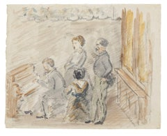 Opera Score - Original Watercolor Drawing - 20th Century