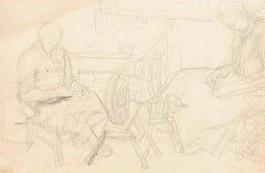 Interior - Original Drawing In Pencil- 1943