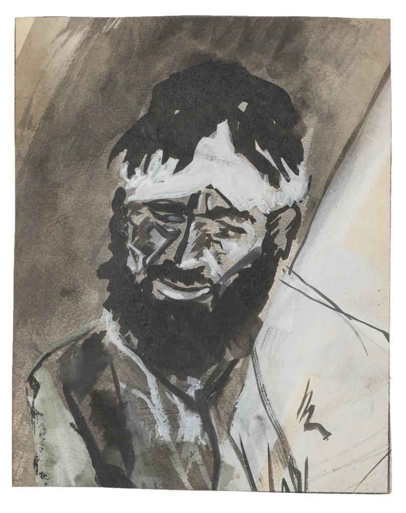 Portrait - Original Tempera Drawing - 20th Century