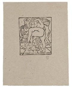 Nudes - Original Xylograph by Amerigo Tot - 1945