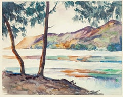 Madagascar. Cote Est. Enbouchoure en Rivière - Watercolor by André Ragot - 1950s