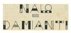 Nalo e Diamanti - Original Drawing In Pen by Bruno Angoletta - 20th Century