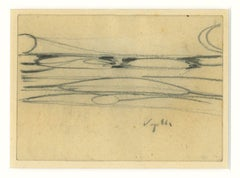 The Bridge - Original Drawing In Pencil - 1945 ca.