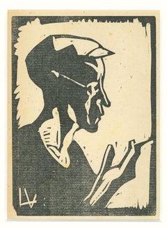 Sailor - Original Woodcut Print by Lorenzo Viani - 1930 ca.